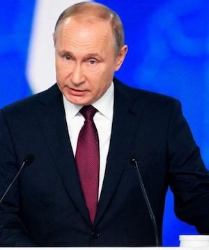 Putin sternly warns United States against deploying new missiles in Europe.