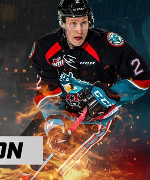 Kelowna Rockets defenceman Lassi Thomson named WHL Western Conference top rookie.