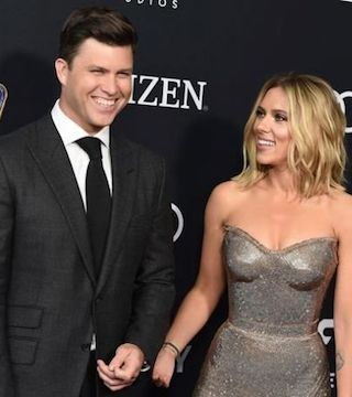 Wedding bells are in the future for actress Scarlett Johansson and Colin Jost of
