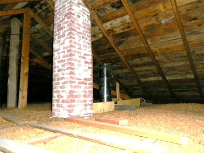 Removing Attic Wood Chip Insulation About The House