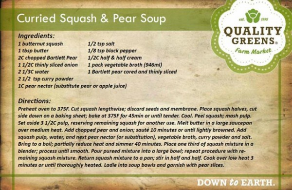 Curried squash and pear soup - Recipes - Castanet.net