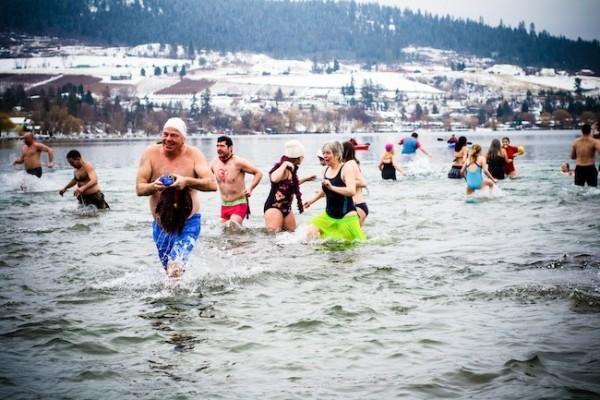 Chippawa Polar Bear dip on Saturday
