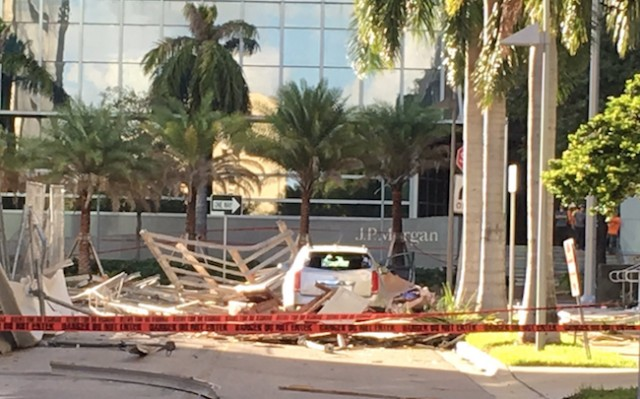Collapse at Brickell Avenue building site leads to one death, five injuries