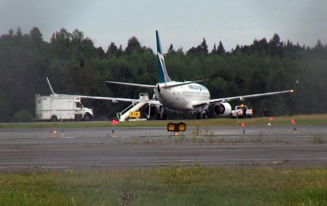 WestJet plane diverted Wednesday night over threat to plane