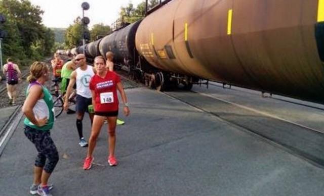 Boston Marathon won't accept race times derailed by train