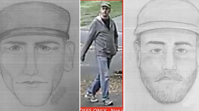 Police release photo and sketches of Surrey sex assault suspect