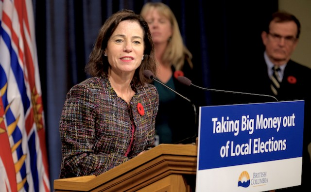 BC to ban corporate and union donations in municipal elections