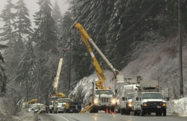 Tens of thousands still without power after British Columbia ice storms