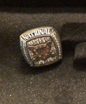 Two national championship rings belonging to West Kelowna Warriors head coach Rylan Ferster have been stolen.