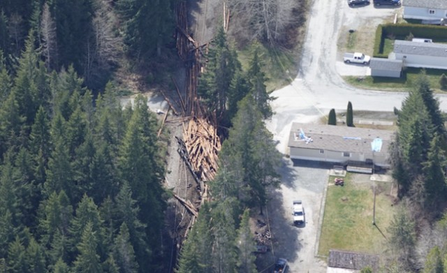 Lumber train derails on northern Vancouver Island injuring two
