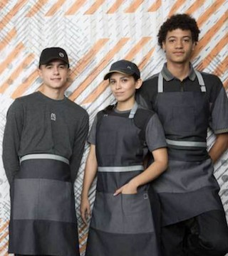 McDonald's new uniforms are prompting some teasing online.