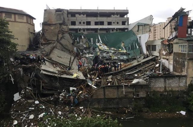 Building collapse in Sri Lanka's capital kills 1, injures 22