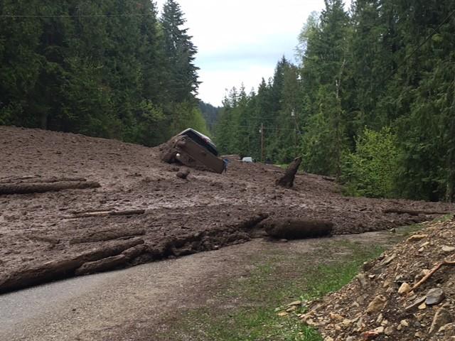 Man, 76, missing following mudslide in BC Interior, Mounties say