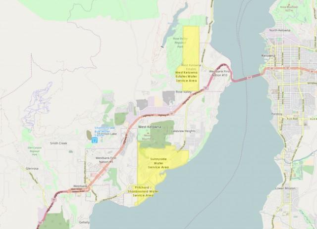 West Kelowna Map Should you boil your water?   West Kelowna News   Castanet.net