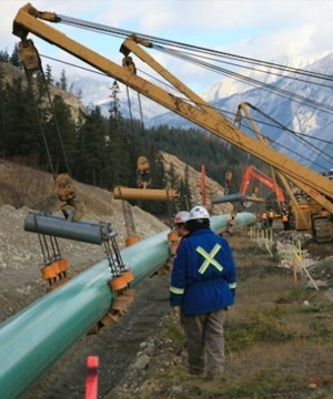 Kinder Morgan says it will proceed with the $7.4-billion Trans Mountain pipeline expansion as long as it secures satisfactory financing for the project through its initial public offering.