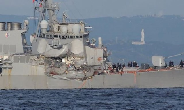 US Navy: bodies of missing sailors found inside damaged destroyer USS Fitzgerald