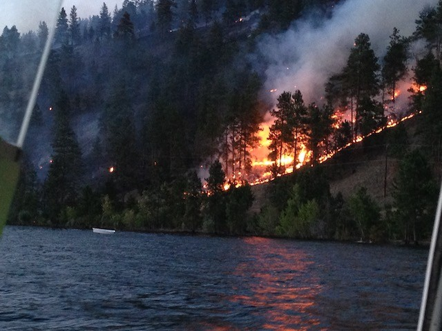 Lake Country fire threat eased