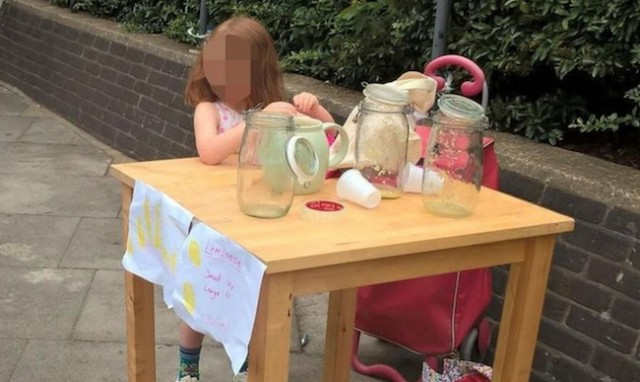 Five-year-old fined £150 for selling lemonade