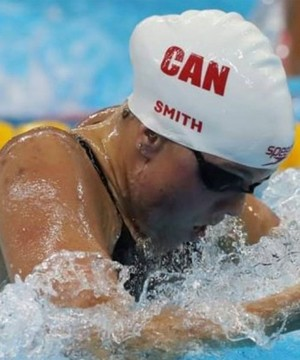 Kelowna's Kierra Smith led a two-woman Canadian contingent into the semi-finals of the women's 200 metre breaststroke at the FINA World Swimming Championships Thursday.