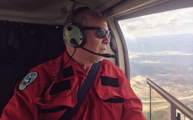Wildfire east of Kelowna, BC, still out of control, area remains evacuated