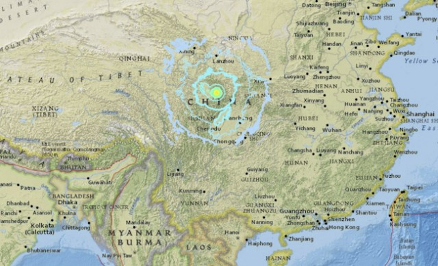 Strong quake hits China