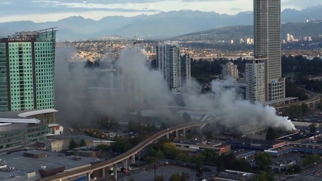 Surrey Central SkyTrain station and bus loop closed due to nearby fire