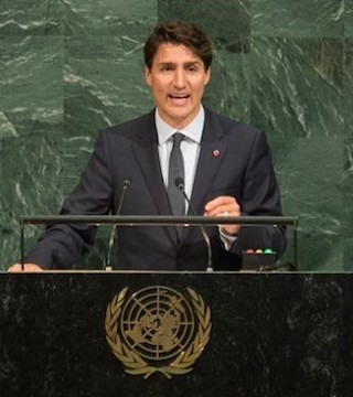 Prime Minister Justin Trudeau spoke at the UN about the struggles of indigenous people in Canada