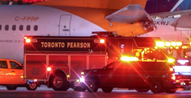 2 planes collide at Toronto airport; WestJet says passengers evacuated