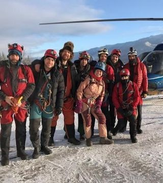 A team of explorers has reached a record depth in a cave near Fernie, B.C.