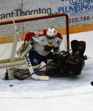 The West Kelowna Warriors seemed to be a step behind the Vernon Vipers all night long.