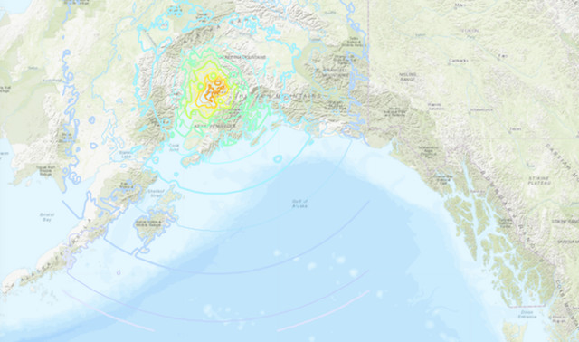 Natural disaster  rattles southern Alaska