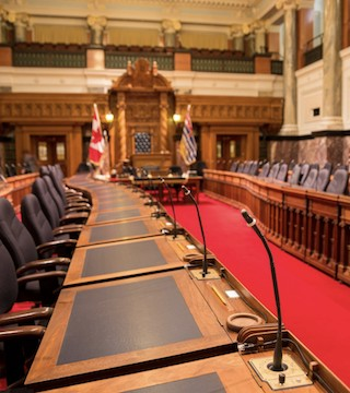 Two key staff at B.C. legislature suspended as criminal investigation underway.