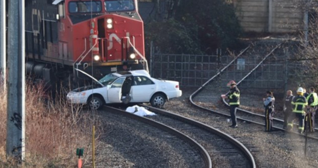 2 dead after train hits car bc news castanet net