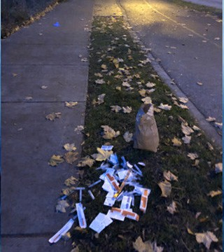 A Kelowna woman was shocked to find needles and injection paraphernalia in a family neighbourhood on Abbott Street.