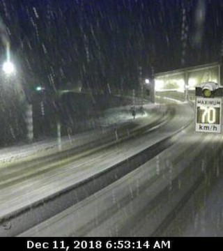 Environment Canada has issued a snowfall warning for the Coquihalla Highway - Hope to Merritt.