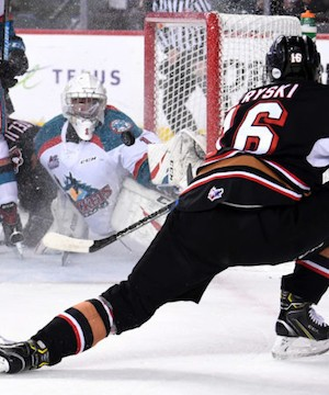 The Kelowna Rockets dropped their second straight against the Calgary Hitmen Friday night.