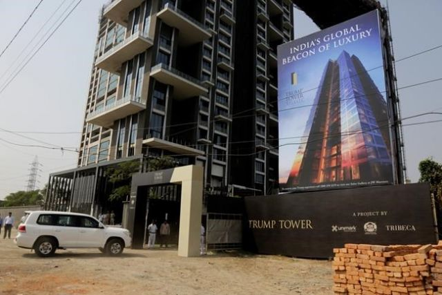 The seven minute appearance at Trump Towers in Pune — Donald Trump Jr