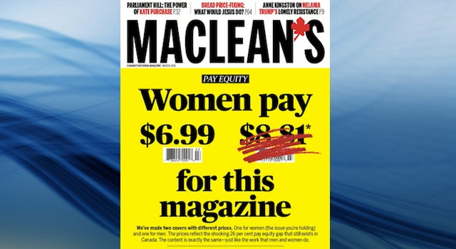 Canadian Magazine charges men 26% more to reflect gender pay gap