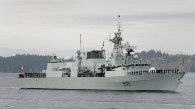 Navy ship spills fuel off BC coast, cleanup underway