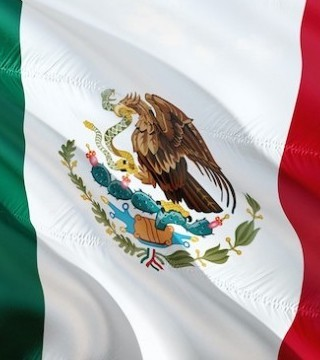 A Flag Day ceremony in Mexico has gone awry, with troops flying the country's red, white and green