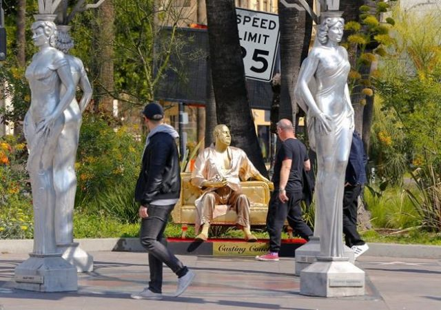 Harvey Weinstein Casting Couch Statue Shows Up Near Oscars Venue