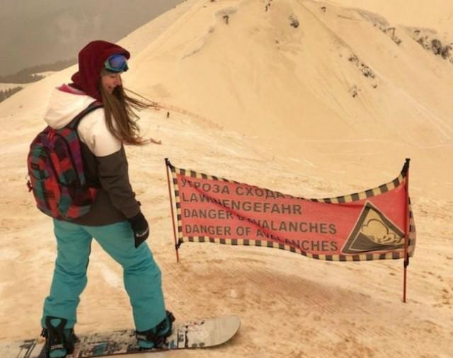Orange Snow in Russia's Sochi Compliments of Sahara Desert