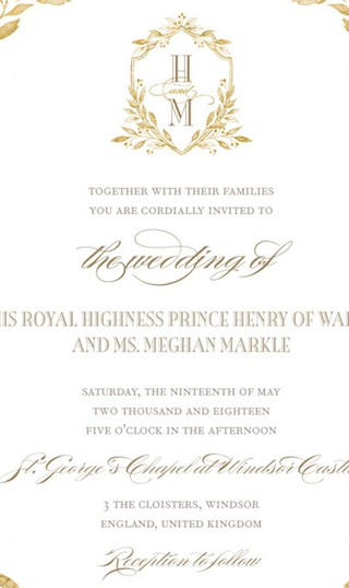 Kensington Palace confirms invitations for the Prince Harry and Meghan Markle  wedding between have been sent.