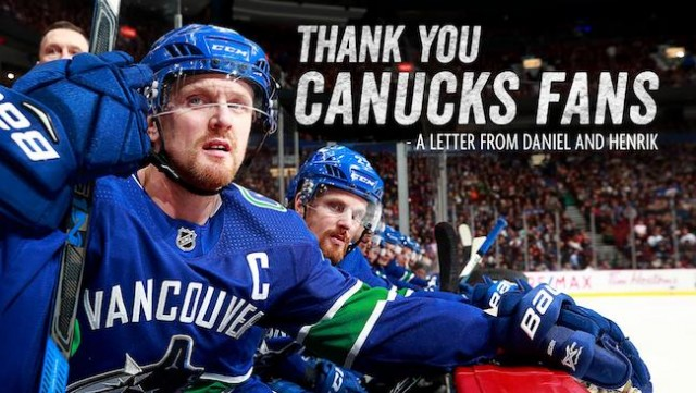 Long-time Canucks Daniel, Henrik Sedin announce National Hockey League retirement in letter to fans
