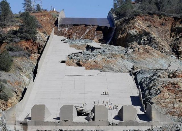 Heavy Rains Might Test The Partially Repaired Oroville Dam Spillway