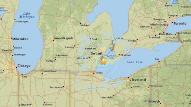 A 3.6 magnitude natural disaster was confirmed about 15 miles from Detroit
