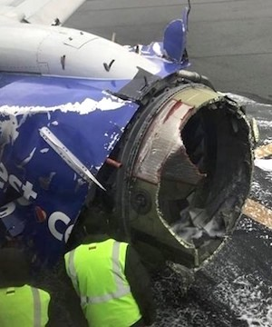 Southwest passenger torn between saving woman and protecting child.