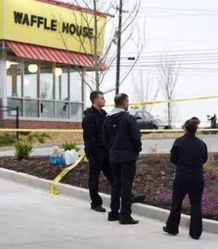 Four people were killed in a shooting at a Waffle House in Nashville.