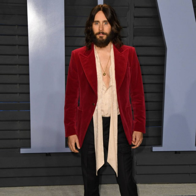 Jared Leto hitching a ride