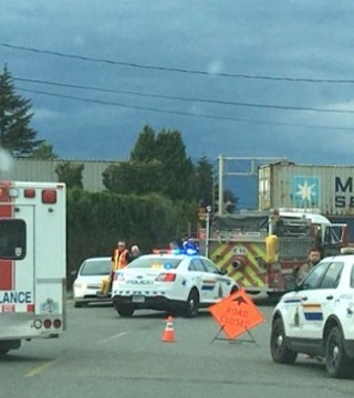 One person is dead after a collision between a train and pedestrians in Chilliwack Saturday evening.